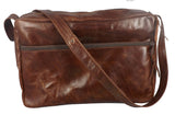 "LARGE ""PARKWAY"" LEATHER ADJUSTABLE SHOULDER BAG & HAND PURSE - Handmade in USA"