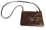 """NEW YORKER"" LEATHER CROSSBODY SHOULDER BAG PURSE ✯ Amish Handmade in USA"