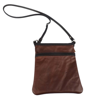 PLAIN DURANGO CROSSBODY LEATHER SHOULDER BAG ~ Adjustable & Handmade in USA