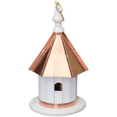 "14"" HANGING WREN BIRDHOUSE - Copper Roof & Trim Bird House"
