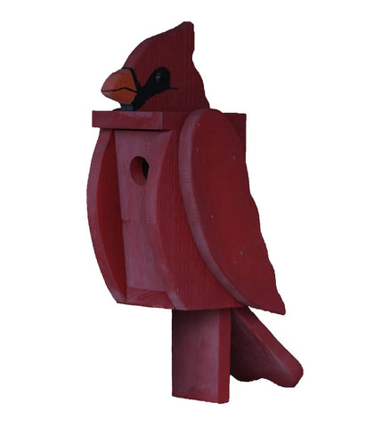 NORTHERN CARDINAL BIRDHOUSE Large Amish Handmade Bird House