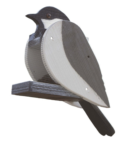 CAROLINA CICKADEE BIRD FEEDER Large Backyard Decor Amish Handmade in USA