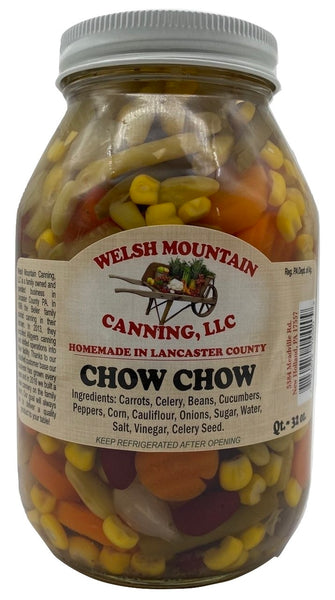AMISH CHOW CHOW - 11 Garden Vegetable Blend in 16oz & 32oz Jars Homemade in Lancaster USA