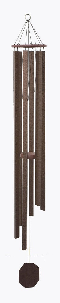 Church Bells Wind Chime Bronze Finished 57 Inch Amish