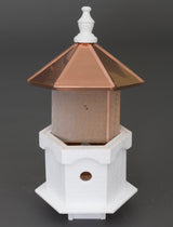 DOUBLE BLUEBIRD HOUSE - 2 Room Copper Birdhouse Condo