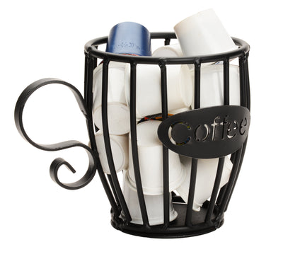 COFFEE K-CUP HOLDER Wrought Iron Mug Keurig Pod Storage Rack USA
