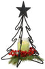 3-D CHRISTMAS TREE Wrought Iron Candle Stand Holiday Decor Holder USA