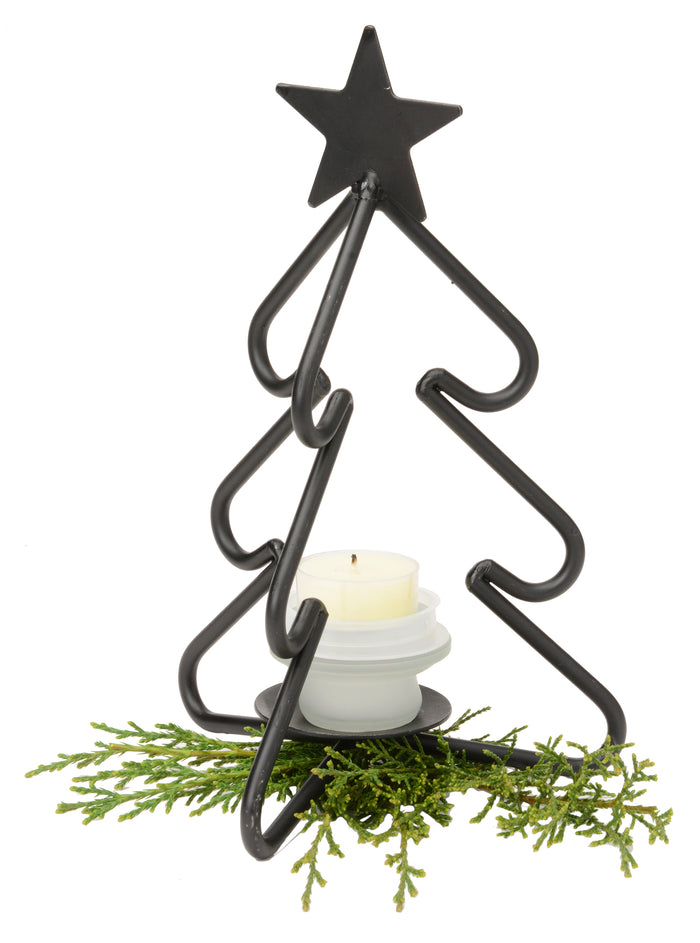 3-D CHRISTMAS TREE Wrought Iron Tea Candle Stand Holiday Decor Holder USA