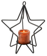3-D STAR Wrought Iron Candle Stand Holiday Decor Holder ♦ 3 SIZES ♦ USA