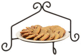 PIE PLATE STAND - Wrought Iron Single Tier Rack in Satin Black USA HANDMADE