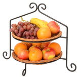 2 Tier PIE PLATE STAND - Wrought Iron Double Rack in Satin Black USA HANDMADE