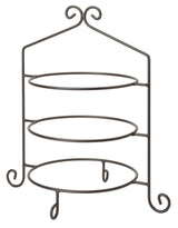3 Tier PIE PLATE STAND - Wrought Iron Triple Rack in Satin Black USA HANDMADE