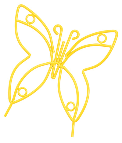 Wrought Iron Butterfly Garden Stake - Amish Handmade Lawn Wall Decor in 3 Finsihes
