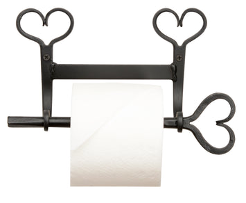 COUNTRY HEARTS WROUGHT IRON TOILET PAPER TISSUE HOLDER USA Amish Blacksmith