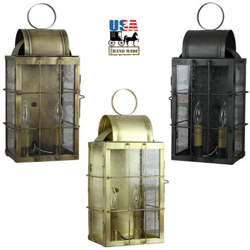BRASS OUTDOOR SCONCE -