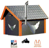 BIKER MAILBOX - Diamond Plate Black & Orange Poly HD Motorcycle