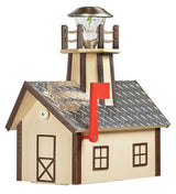 DELUXE DIAMOND PLATE LIGHTHOUSE MAILBOX -  Weatherproof 100% Recycled Poly in 14 Colors