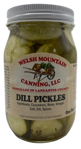CLASSIC DILL PICKLES - 16 & 32 oz Jars Amish Homemade in Lancaster USA