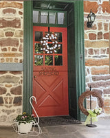 WREATH HANGER  - Wrought Iron Over the Door Decor Coat Holder