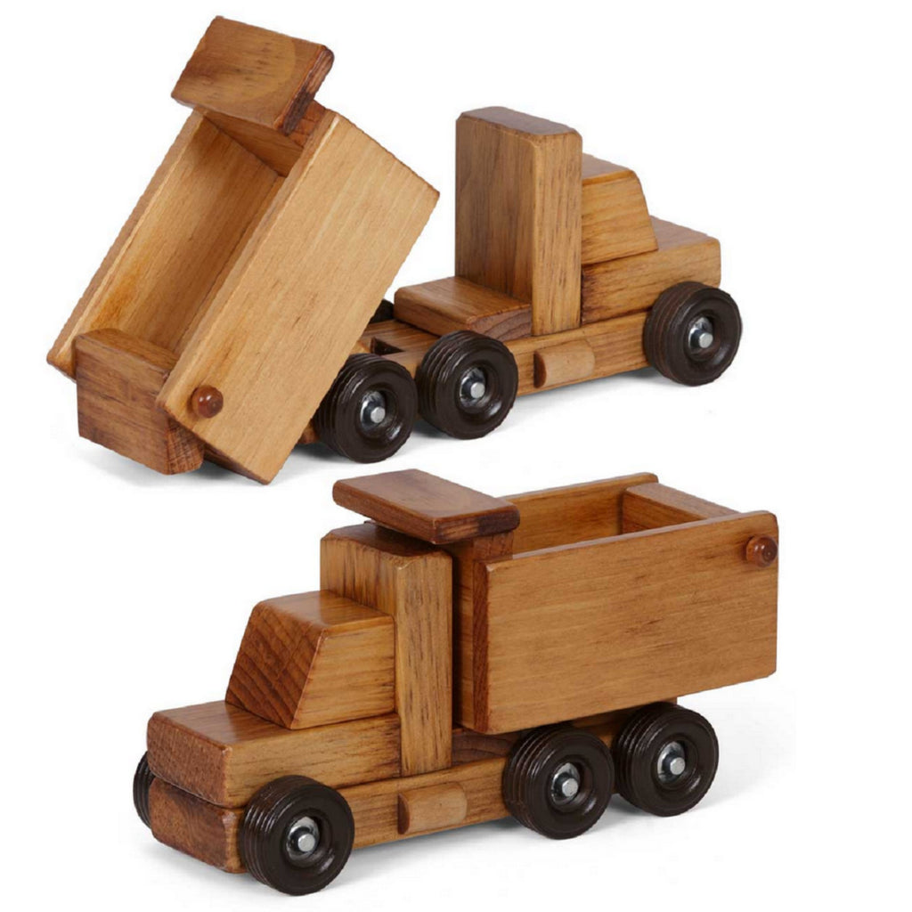 Working Dump Truck Wooden Construction Toy Amish Handmade