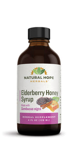 ELDERBERRY HONEY SYRUP - Organic Thick & Fruity Immune Support Tonic