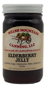 ELDERBERRY JELLY - Amish Homemade Healthy Berry Spread USA