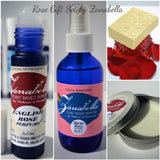 ROSE AROMATHERAPY GIFT SET- Organic Body Butter, Body Mist Spray, Roll On Perfume & Artisan Soap &