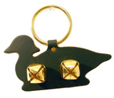 DOOR CHIME - LEATHER DUCK with JINGLE BELLS in 4 Colors - Amish Handmade in USA