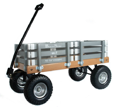 ALL TERRAIN BERLIN FLYER WAGON - Beach Garden Cart in Bright Gray AMISH USA