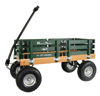 ALL TERRAIN BERLIN FLYER WAGON - Beach Garden Cart in Bright Green AMISH USA