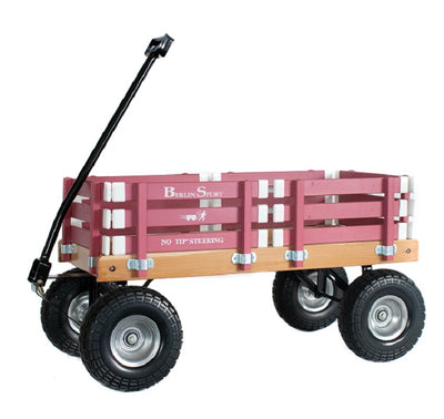 ALL TERRAIN BERLIN FLYER WAGON - Beach Garden Cart in Bright Hot Pink AMISH USA