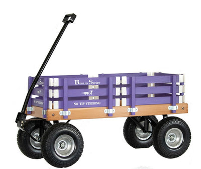 ALL TERRAIN BERLIN FLYER WAGON - Beach Garden Cart in Bright Purple AMISH USA