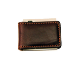 LEATHER MONEY CLIP - STRONG MAGNET in BROWN or BLACK - Amish Handmade