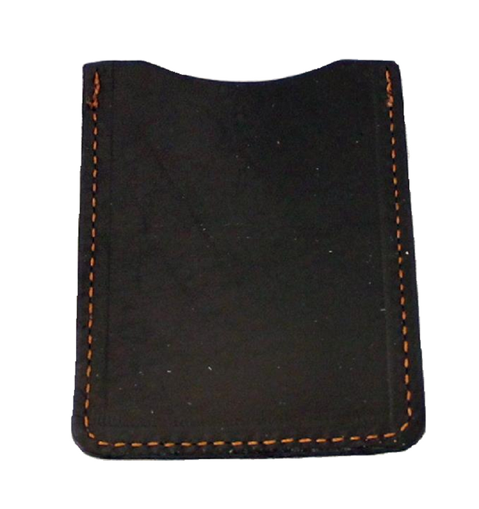 LEATHER CARD HOLDER BLACK Minimalist Wallet Amish Handmade in USA