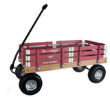 HEAVY DUTY LOADMASTER WAGON - Beach Garden Utility Cart in Hot Pink Amish Handmade USA