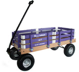 HEAVY DUTY LOADMASTER WAGON - Beach Garden Utility Cart in Bright Purple Amish Handmade USA