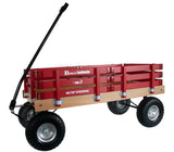 HEAVY DUTY LOADMASTER WAGON - Beach Garden Utility Cart in BClassic Country Red Amish Handmade USA