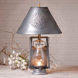 FARMER'S LAMP - Vintage Oil Lantern with Punched Tin Shade