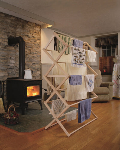 Extra Large Amish Maple Wood Laundry Clothes Drying Rack