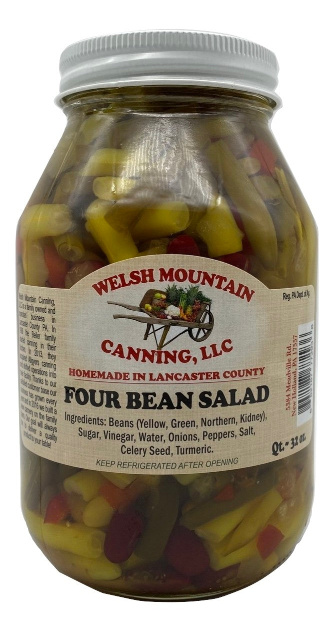 FOUR BEAN SALAD - Delicious Mix in Sweet Brine Amish Homemade