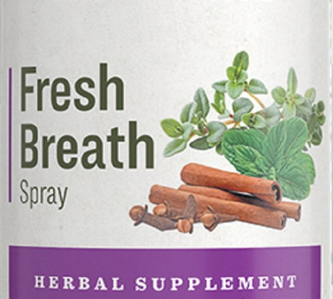 FRESH BREATH SPRAY - All Natural Oral Herb Tincture with Peppermint