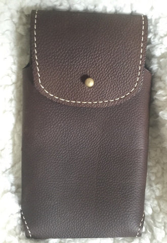 HANDMADE LEATHER PHONE CASE & WALLET Dark w/ Stud Belt Holster iPHONE Plus Galaxy