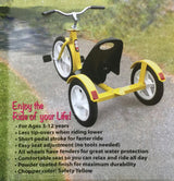 CHOPPER Style Tricycle Amish Handcrafted Quality in Safety Yellow