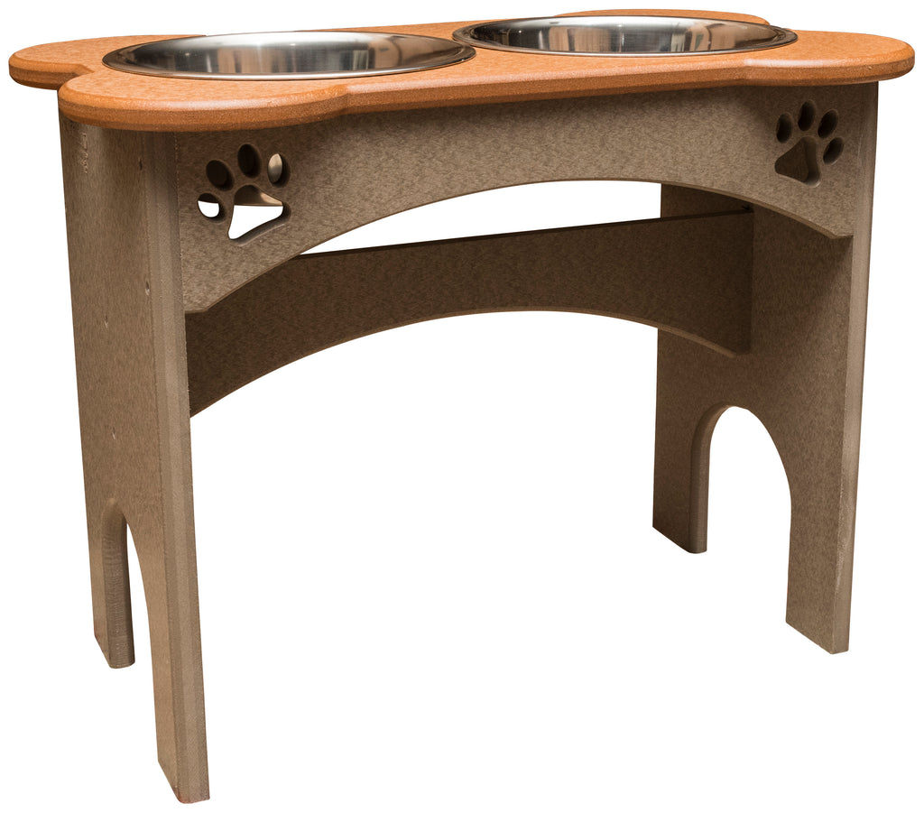 15 Quot Dog Feeder Elevated Vinyl Food Water Station