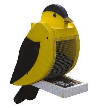 AMERICAN GOLDFINCH BIRD FEEDER - Large Solid Wood Feeders