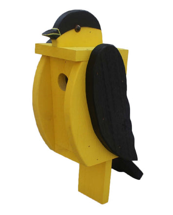 AMERICAN GOLDFINCH BIRDHOUSE - Large Amish Handmade Bird House
