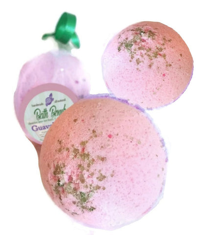 GUAVABERRY BATH BOMB 3 Pack ~ Natural Handmade Luxurious Spa Experience
