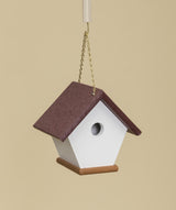 WREN BIRD HOUSE - Amish Handmade Weatherproof Poly Hanger - 17 Color Choices