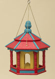 HANGING BIRD FEEDER ~ Amish Handmade Hexagon Recycled Poly - 10 Color Combos