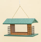 LARGE 2 SUET CAKE & SEED FEEDER - Hanging Amish Handmade in USA